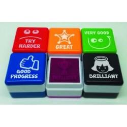 Pack 6 sellos motivación en Inglés