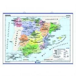 Mapa mural España Autonomías
