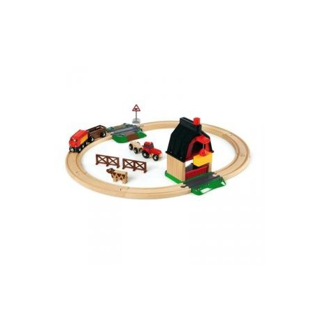 Circuito tren madera granja