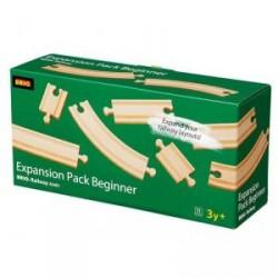 Pack de 11 vías surtidas de madera (ampliación raíles)