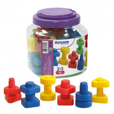 Bote tornillos y tuercas 48 piezas