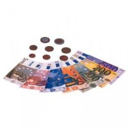 Cartera de billetes y monedas