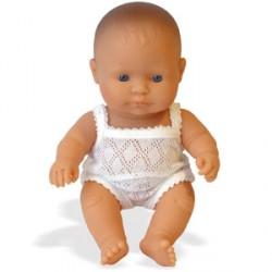 Baby niña europea
